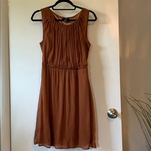 H&M dress in brown size 8